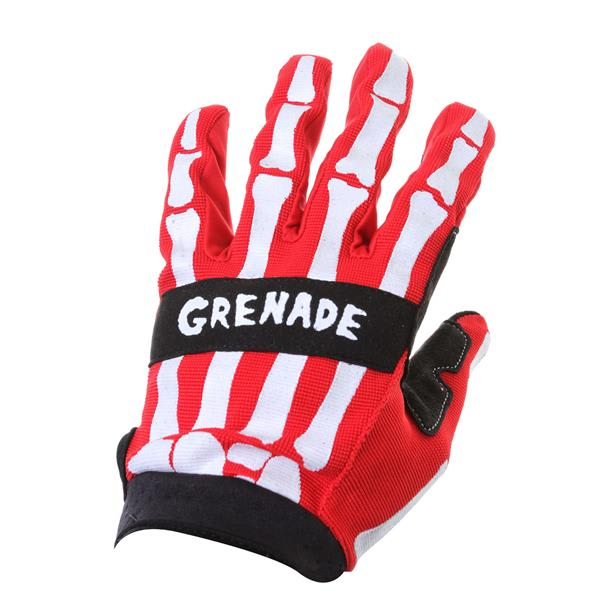 Grenade Skeleshred Bmx Gloves Red U.S.A. & Canada