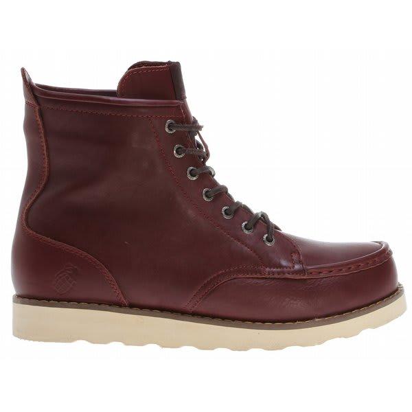 Grenade Urban Trekker Leather Boots Burgundy U.S.A. & Canada