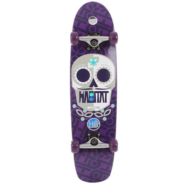 Habitat Sugar Skull Longboard Skateboard Complete Purple U.S.A. & Canada