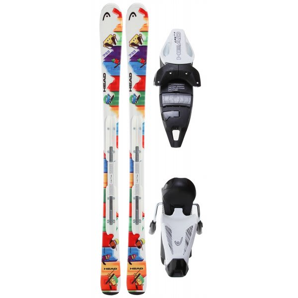 Head Pez Team Nd Skis W / Lrx 7 5 Ac Bindings Solid White / Black U.S.A. & Canada