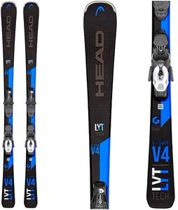 Head V-Shape V4 Skis w/ PR 10 GW Bindings