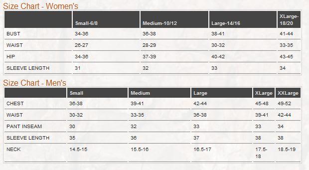 Hitec Size Chart