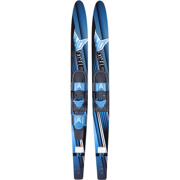 HO Excel Combo Skis W/ Adjustable Horseshoe/Trainer Bar