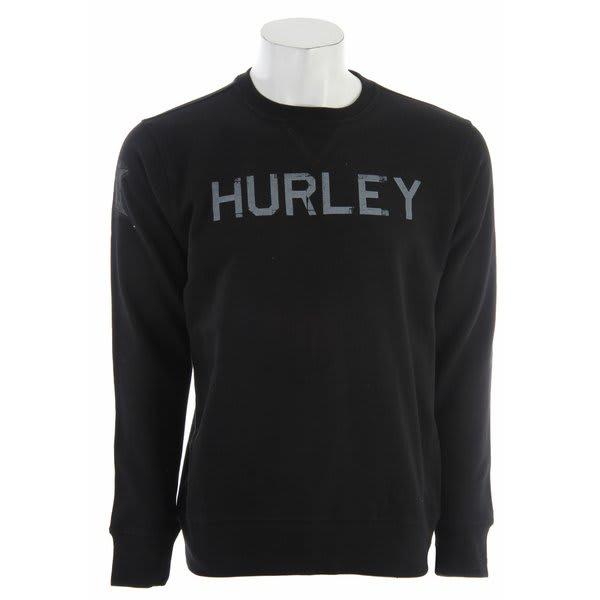 Hurley Brandage Crew Sweatshirt Black U.S.A. & Canada