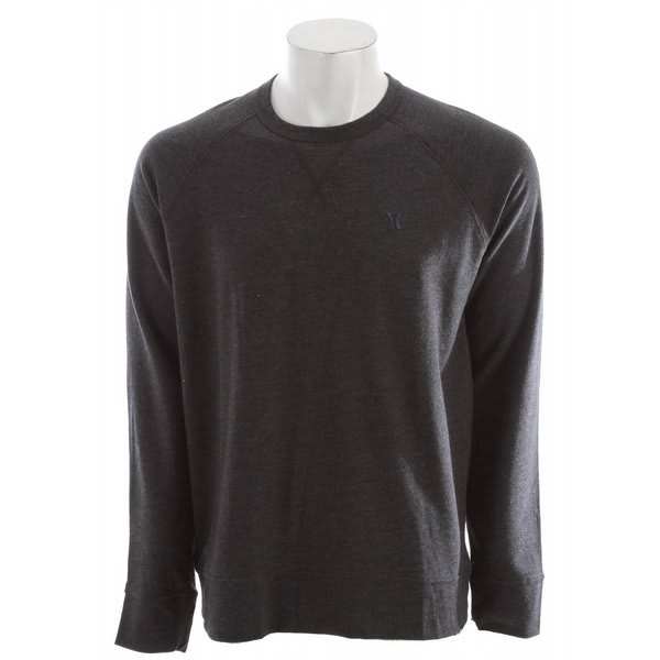 Hurley The Fleece Tee L / S Sweatshirt Heather Black U.S.A. & Canada
