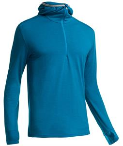 Icebreaker Compass L/S Half Zip Hood Baselayer Top