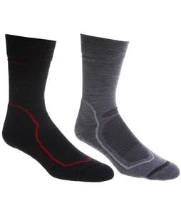 Icebreaker Hike+ Light Crew 2 Pack Socks