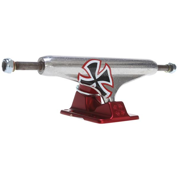 Independent Forged Skateboard Trucks Solo Hollow Cross Silver / Red 149Mm U.S.A. & Canada