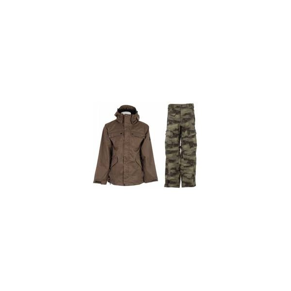 Ride Pioneer 3 In 1 Jacket Canteen W / Sessions Movement Pants Green Camo U.S.A. & Canada