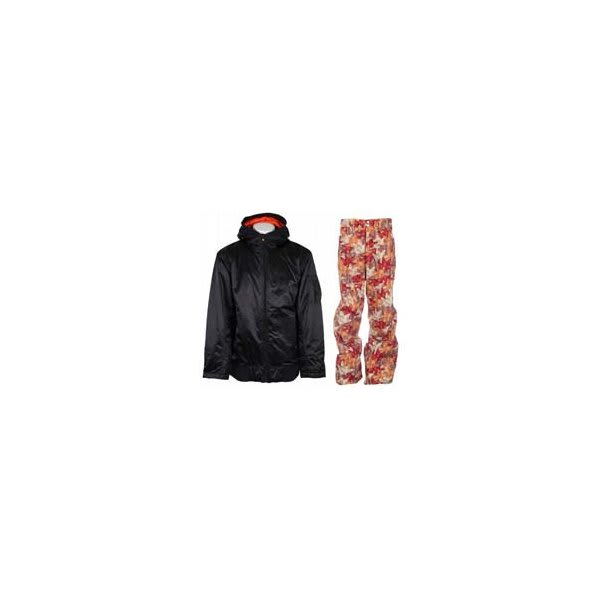 Vans Dtl Bomber Insulated Jacket Vans Black W / Foursquare Wong Pants Fall Leaves U.S.A. & Canada