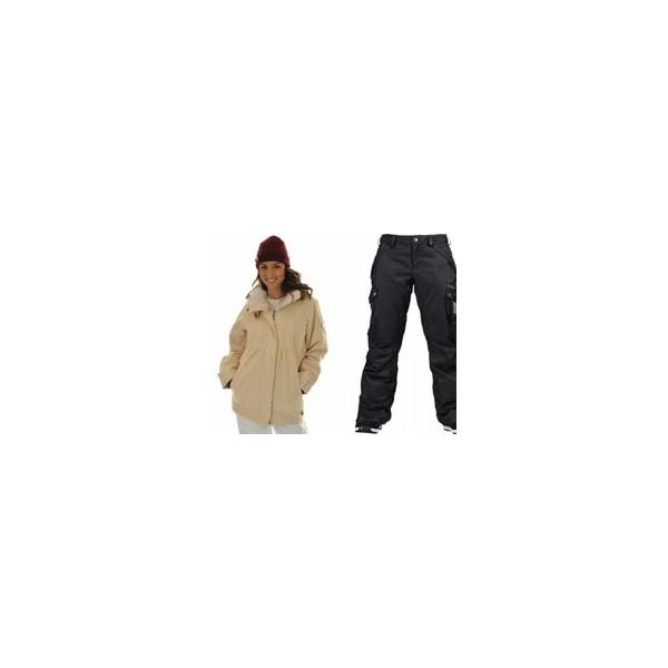 Roxy Tram Jacket Dandelion / White W / Burton Fly Pants True Black / Dobby U.S.A. & Canada