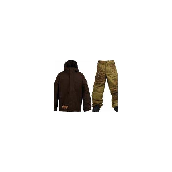Burton Ripper Jacket Mocha W / Burton Standard Snow Pants Mocha Geoflip U.S.A. & Canada