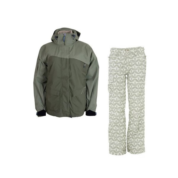 Sessions Siryn 4 In 1 Jacket Drab W / Foursquare Fuji Pants Rejuvenate Biggie Dots U.S.A. & Canada