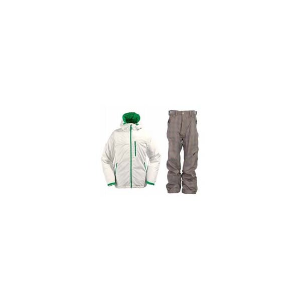 Burton Idiom Continuum Down Jacket Bright White W / Special Blend Assure Pants Rusty Plaid U.S.A. & Canada