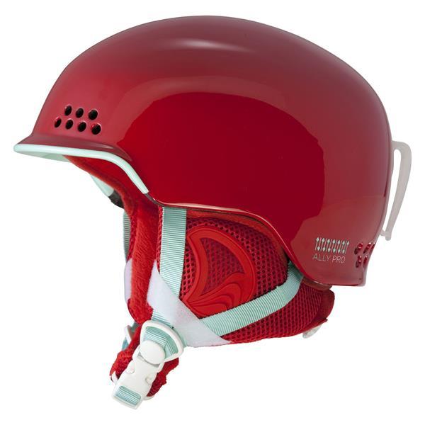 2 Ally Pro Ski Helmet Red U.S.A. & Canada