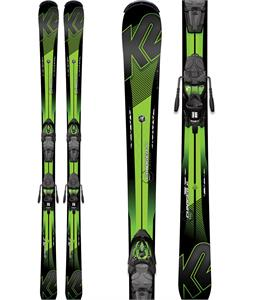 K2 Charger Jr. Skis w/ Marker Fastrak2 7 Bindings
