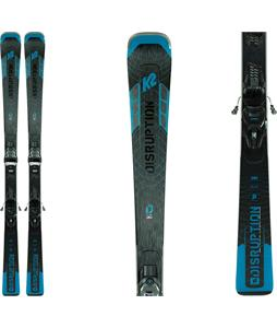 K2 Disruption SC Alliance Skis w/ ER3 10 Compact Quikclik Bindings