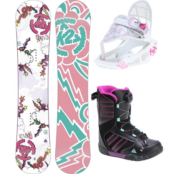 2 Lil andi Grom Pack Snowboard 120 W / Boots / Bindings U.S.A. & Canada