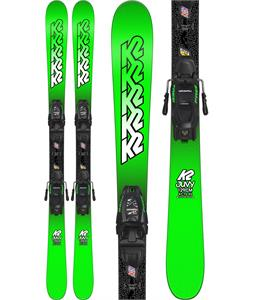 K2 Juvy Skis w/ Marker FDT 7.0 Bindings