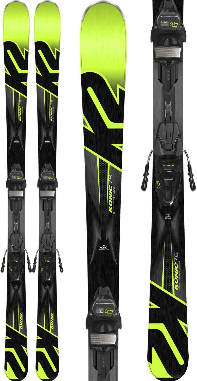 K2 Konic 78 Skis W/ Marker M3 10 Compact Bindings 2018