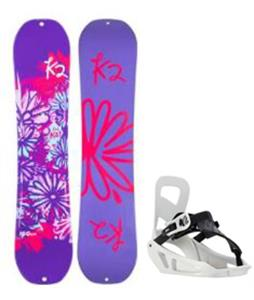 K2 Lil Kat Snowboard w/ Mini Turbo Bindings