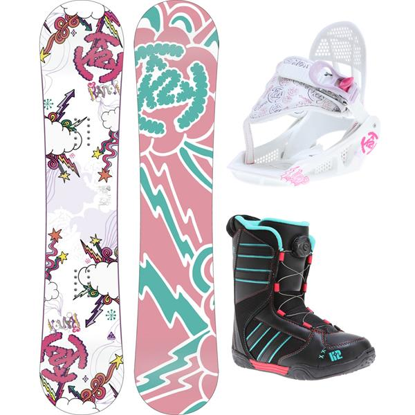 2 Lil andi Grom Pack Snowboard 110 W / Boots / Bindings U.S.A. & Canada