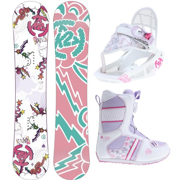 2 Lil andi Grom Pack Snowboard 100 W / Boots / Bindings U.S.A. & Canada