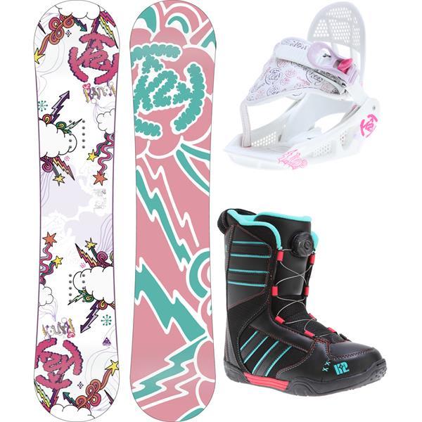 K2 Lil Kandi Grom Pack Snowboard W/ Boots/Bindings