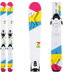 K2 Luv Bug Skis w/ Marker FDT Jr 4.5 Bindings