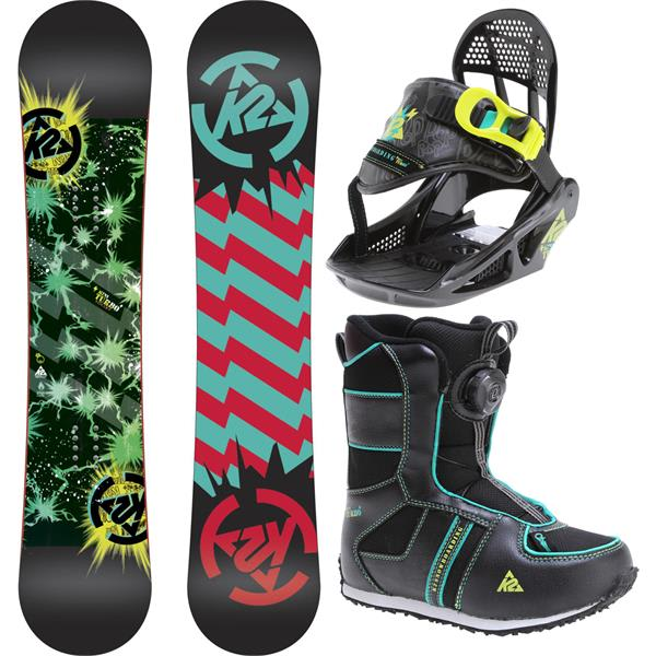 2 Mini Turbo Grom Pack Snowboard 110 W / Boots / Bindings U.S.A. & Canada