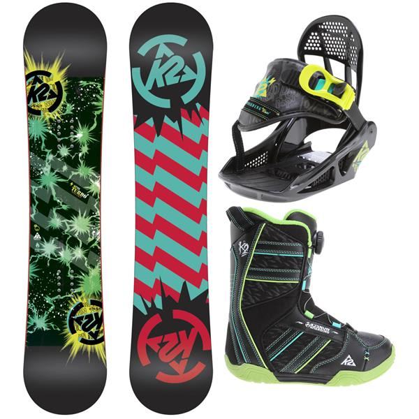 2 Mini Turbo Grom Pack Snowboard 120 W / Boots / Bindings U.S.A. & Canada