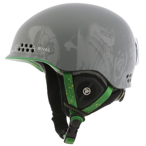2 Rival Pro Ski Helmet Grey Pop U.S.A. & Canada