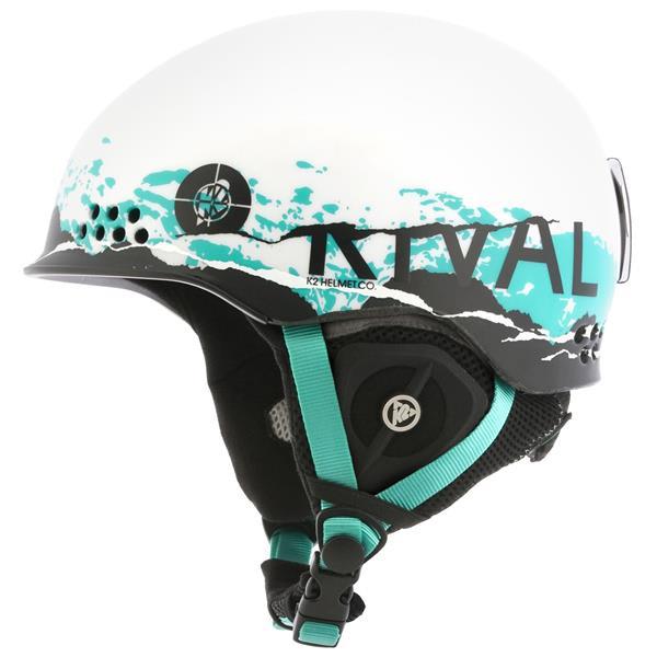 2 Rival Pro Ski Helmet White Chaos U.S.A. & Canada