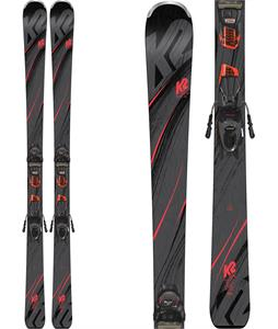K2 Secret Luv Skis w/ Marker ER3 10 Compack Quikclik Bindings