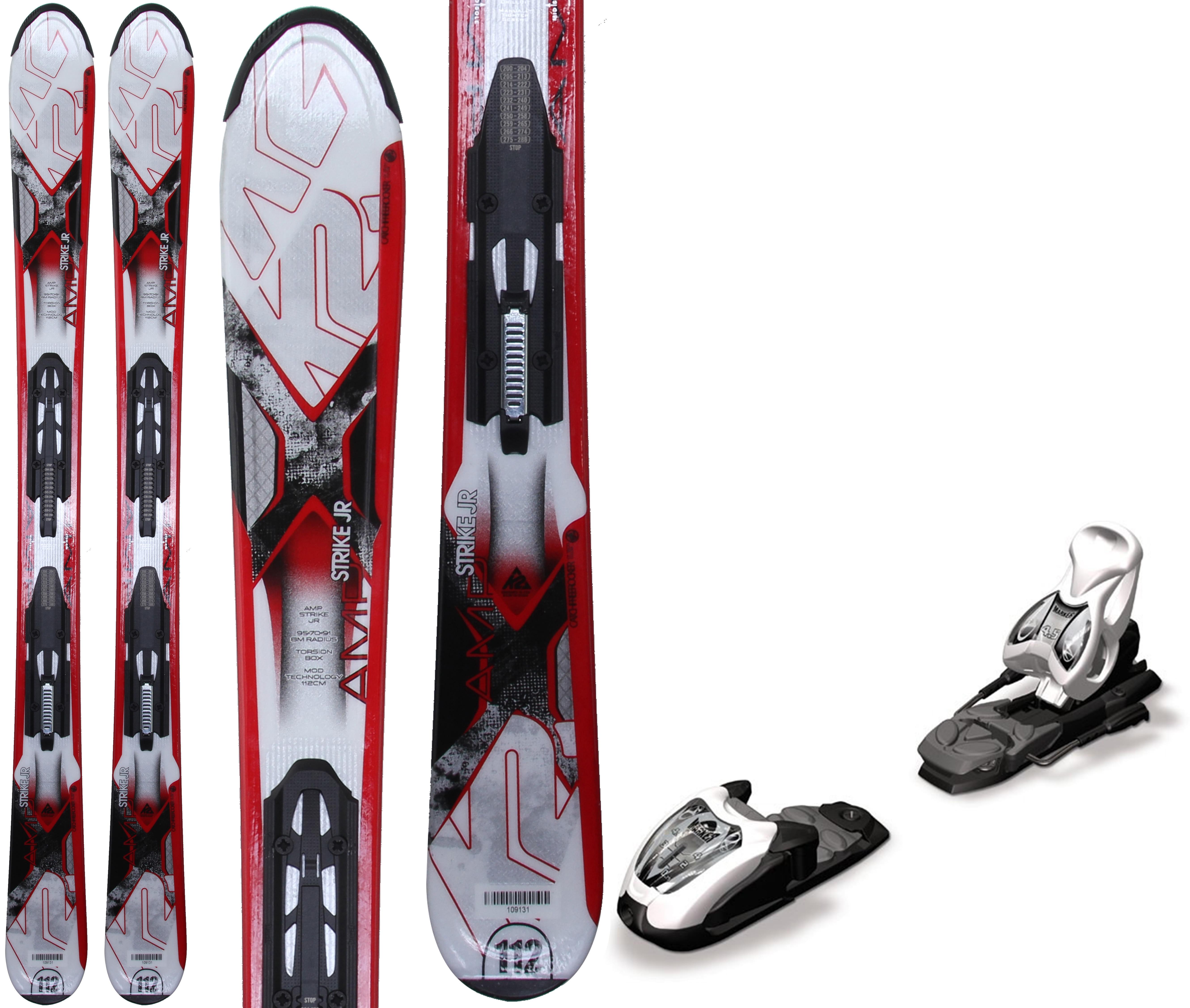 K2 Strike Jr Skis W/ Marker Fastrak2 4.5 Bindings