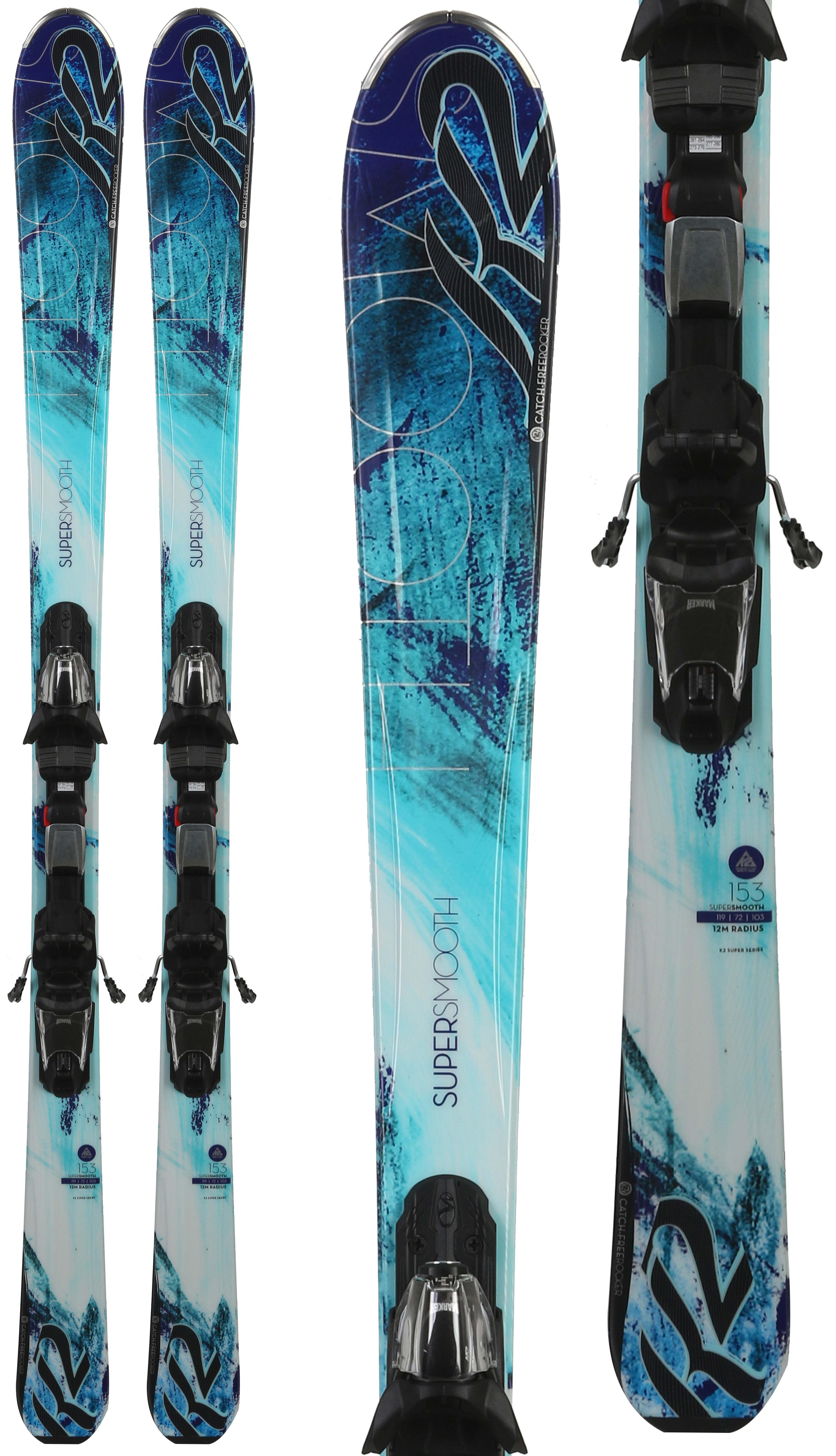 Kids Water Skis >> K2 Supersmooth Skis w/ Marker Fastrak3 10 Bindings - Womens