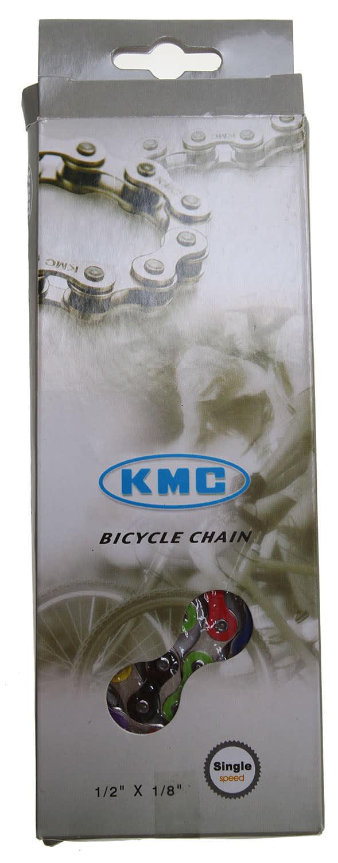 "Image of KMC Z510HX Rainbow Bike Chain 1/8"""