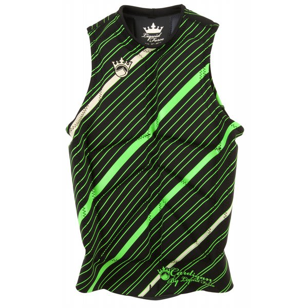 Liquid Force Cardigan Comp Wakeboard Vest Black / Green U.S.A. & Canada