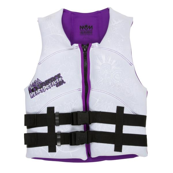 Liquid Force Heartbreaker Cga Wakeboard Vest White / Purple U.S.A. & Canada