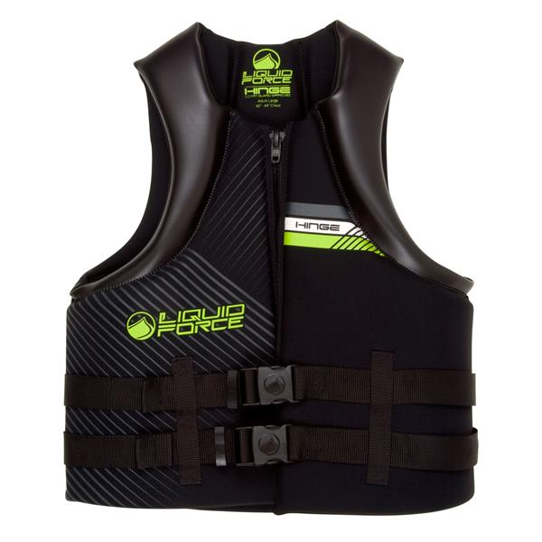 Liquid Force Hinge Cga Wakeboard Vest Black / Green U.S.A. & Canada