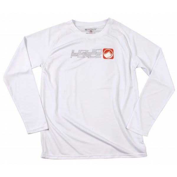 Liquid Force Pushing L / S Riding Shirt White U.S.A. & Canada