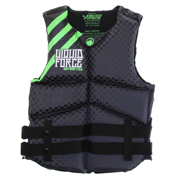 Liquid Force Watson Cga Wakeboard Vest Black / Green U.S.A. & Canada