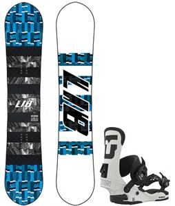 Lib Tech Skate Banana Snowboard w/ Union Force Bindings