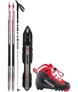 Madshus Intrasonic Classic JR XC Complete Ski Package + Poles