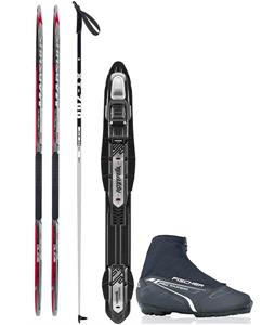 Madshus Ultrasonic Classic XC Complete Ski Package + Poles