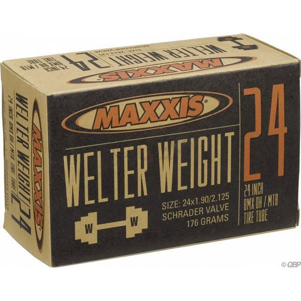 Maxxis Welter Weight Schrader Valve Tube 24X1 9 2 125In U.S.A. & Canada