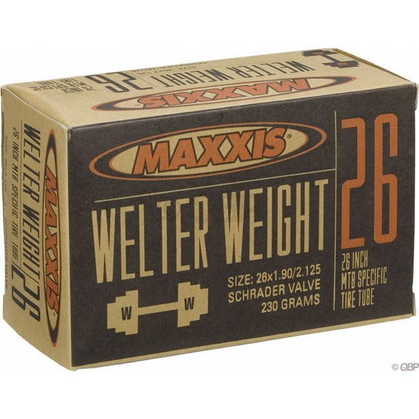 Maxxis Welter Weight Schrader Valve Tube 26X1 9 2 125In U.S.A. & Canada