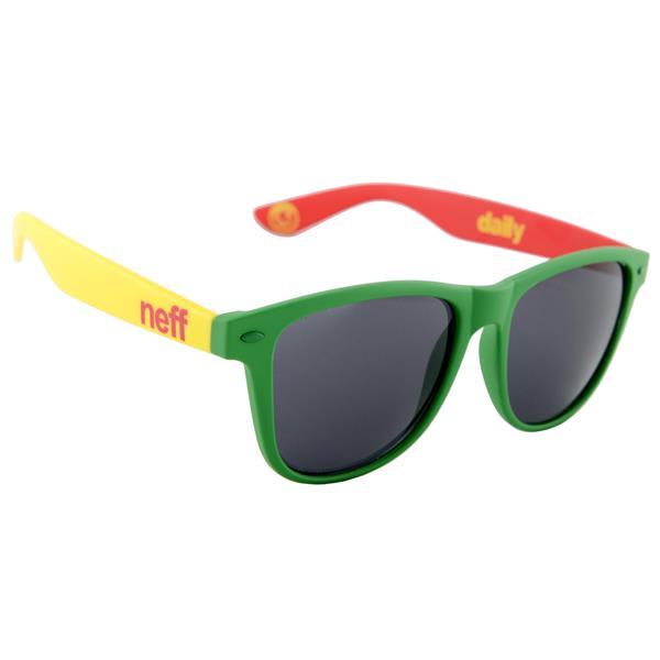 Neff Daily Sunglasses Rasta Soft Touch U.S.A. & Canada