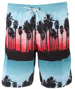 Neff Palm Stripes Hot Tub Boardshorts