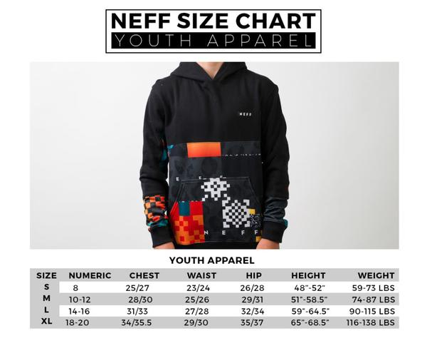 Neff Youth Size Chart